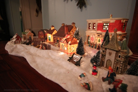 christmas decor village 2