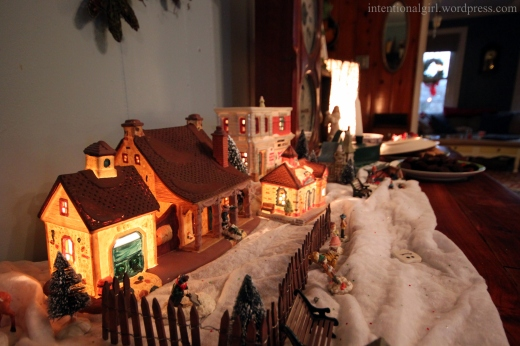 christmas decor village